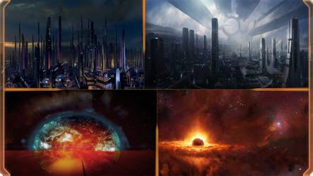 Mass Effect 2 panoramic walls
