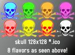 skull 128x128 8icons
