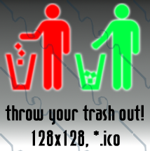 trash recycling 128x128 2icons by gr8koogly