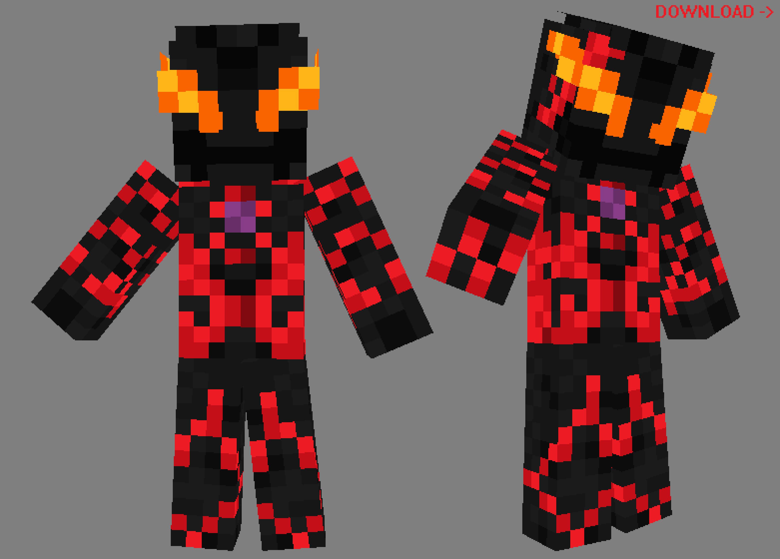 Ultraman Belial Minecraft Player Skin Pack by Burninggodzillalord