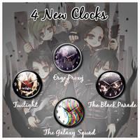 Four new sidebar clocks by SoftPurple