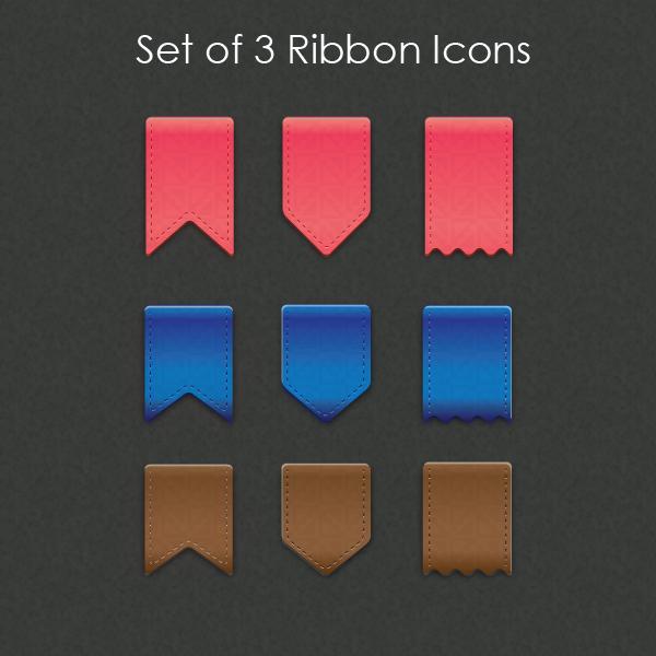 Vector Ribbon Icons
