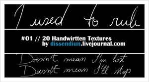 Handwritten Textures 01