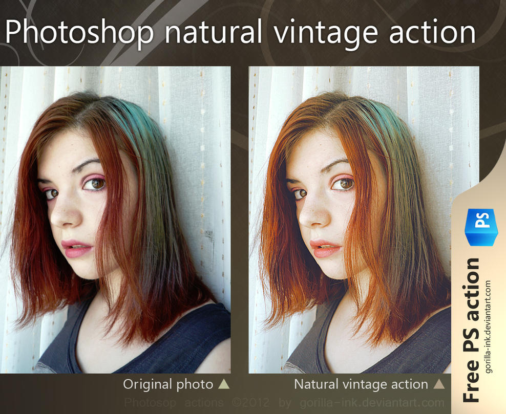Photoshop natural vintage action by goRillA-iNK