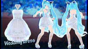 MMD AION - Wedding dress - [DL DOWNLOAD] by Milionna