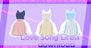 MMD SIMS 3 - Love Song Dress - [DOWNLOAD][DL] by Milionna