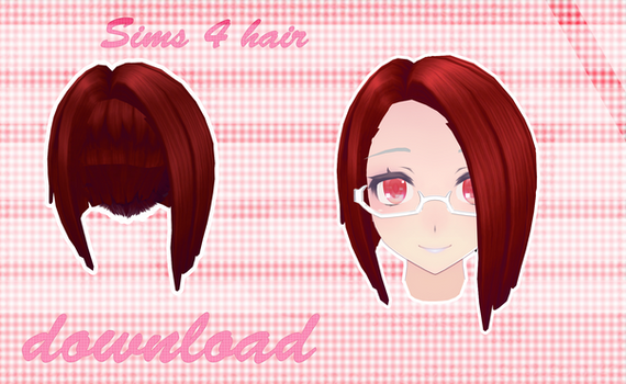 MMD SIMS 4 - Hair - [DOWNLOAD][DL]