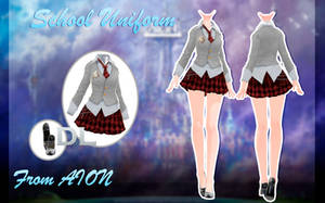 MMD AION - School Uniform - [DOWNLOAD][DL] by Milionna