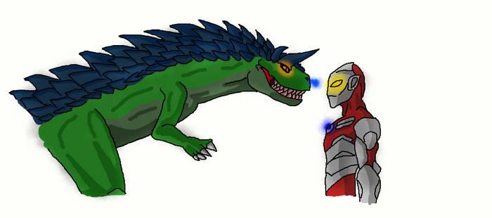 Ultraman and Bemular