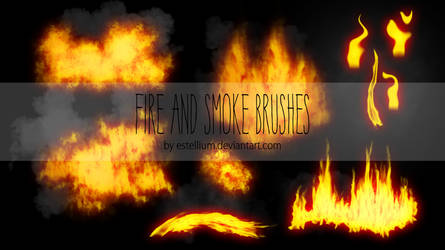 Fire And Smoke Brushes By Estellium by estellium