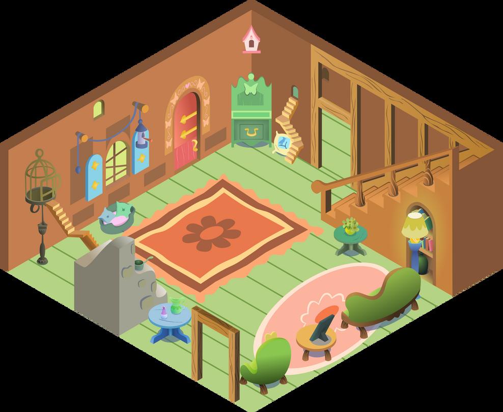 Inside Fluttershy_s cottage by iOVERD on DeviantArt