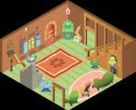 Inside Fluttershy_s cottage