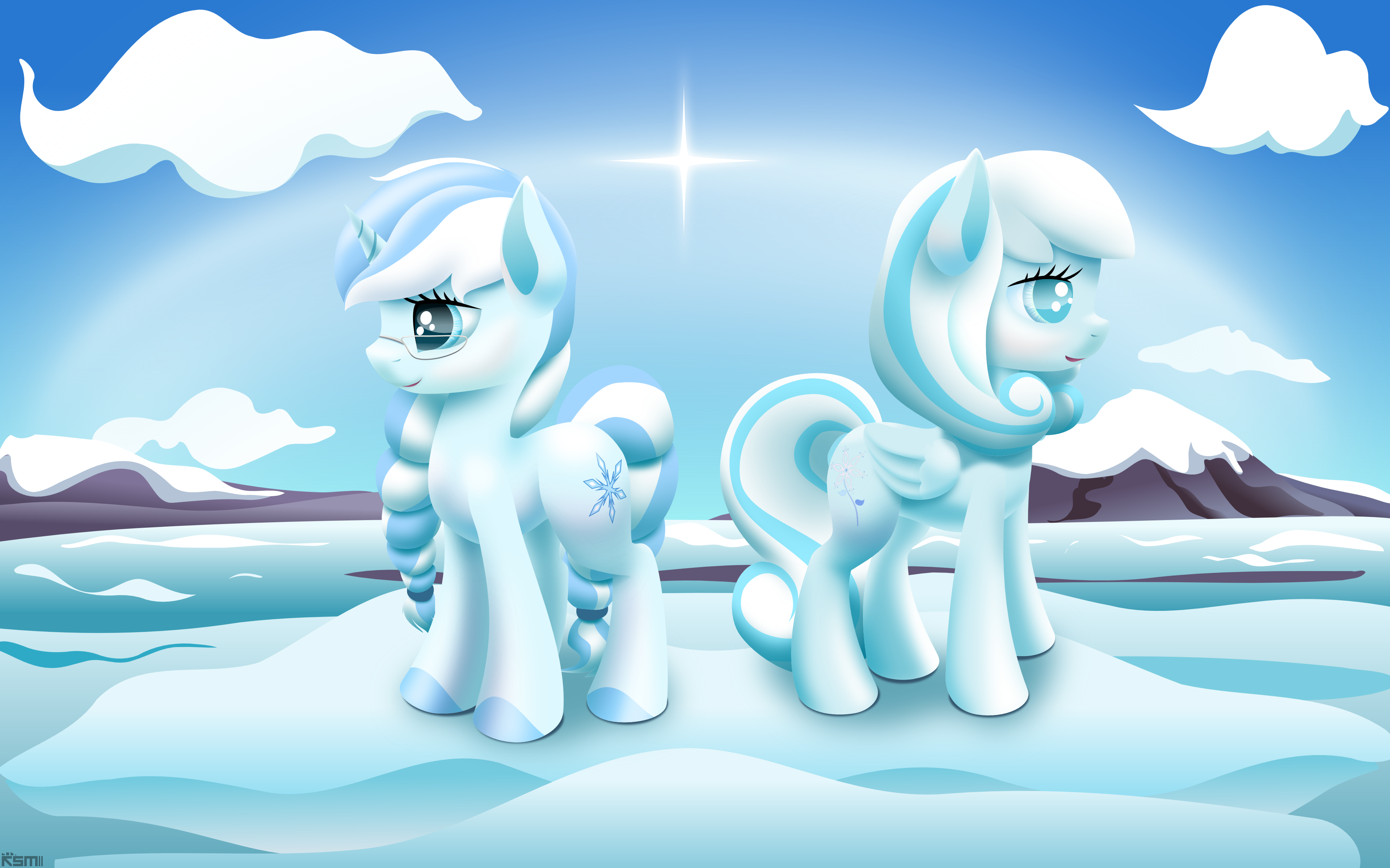 Frosty and Snowdrop by iOVERD