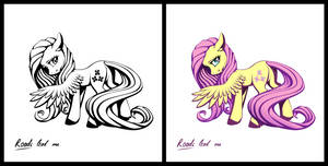 Pony sticker - Fluttershy
