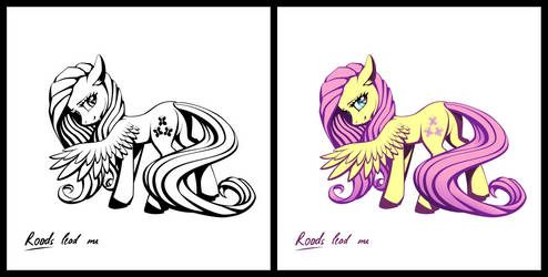 Pony sticker - Fluttershy by roadsleadme