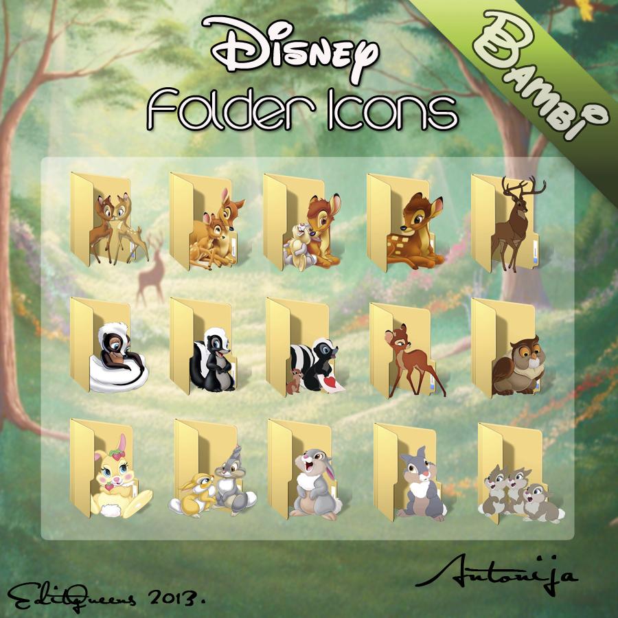 Disney Folder Icons - Bambi by EditQeens