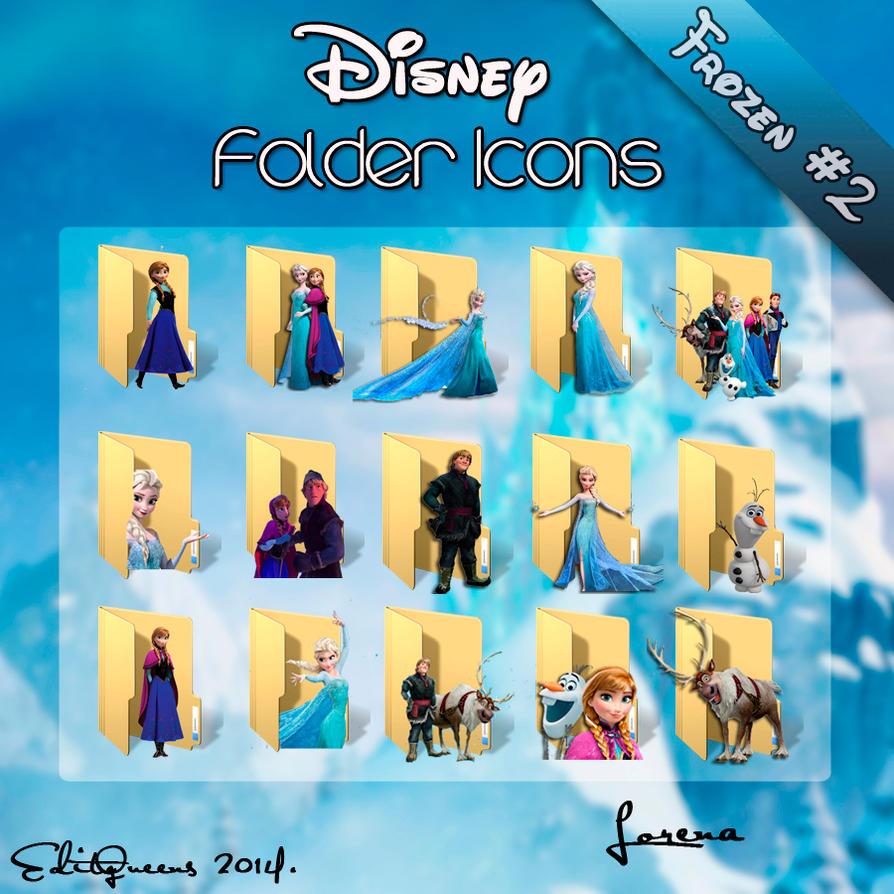 Disney Folder Icons - Frozen #2 by EditQeens
