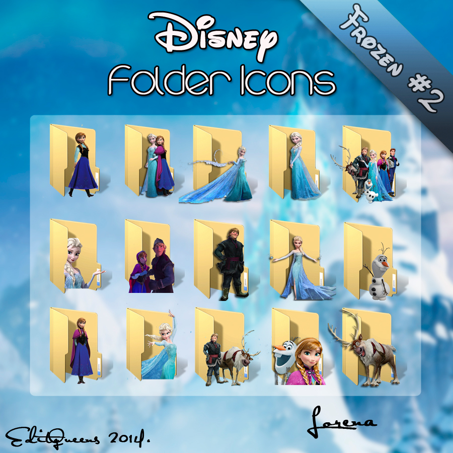 Disney Folder Icons - Frozen #2 by EditQeens