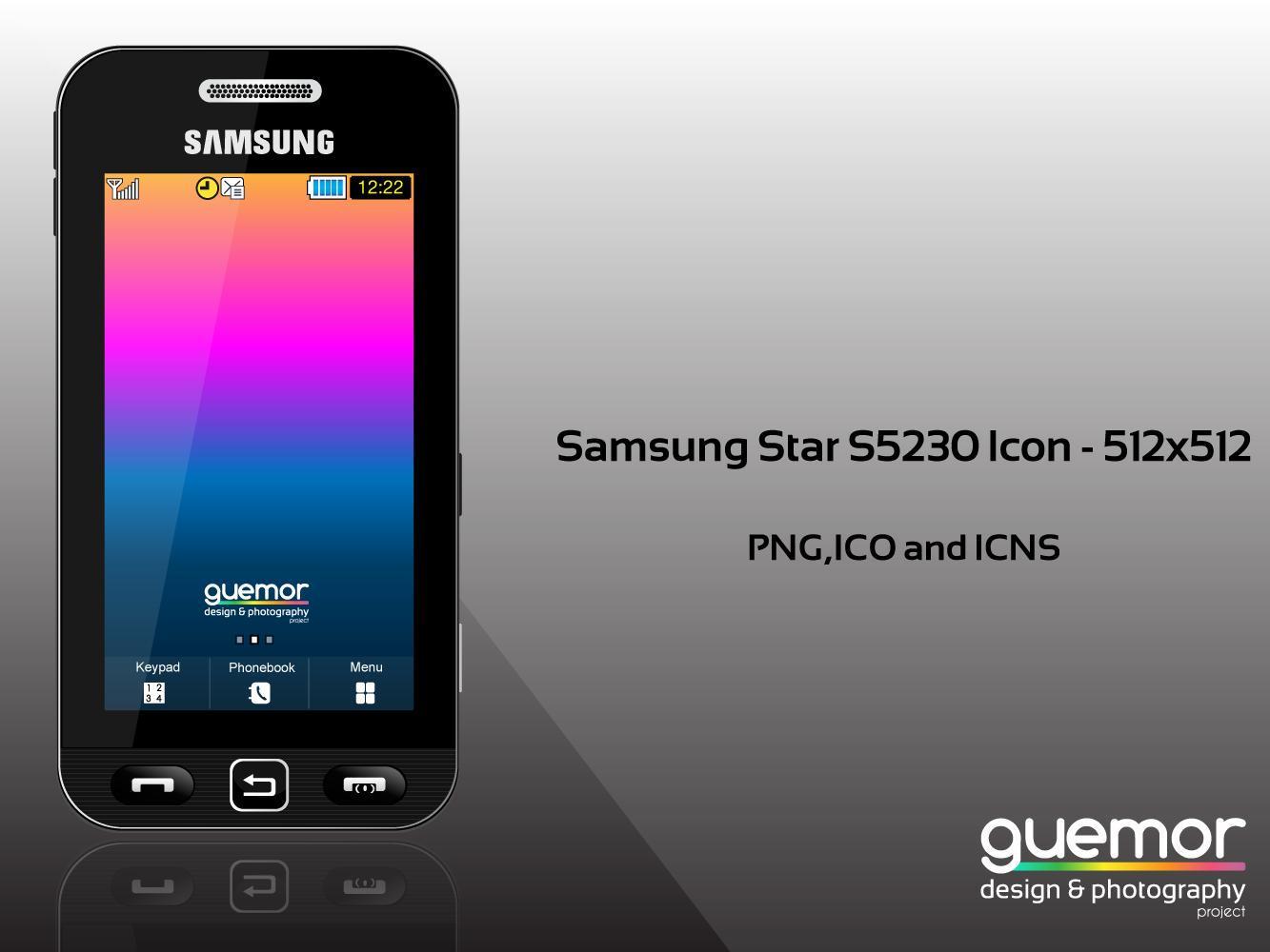 samsung star s5230 icon by guemor on deviantart. Black Bedroom Furniture Sets. Home Design Ideas