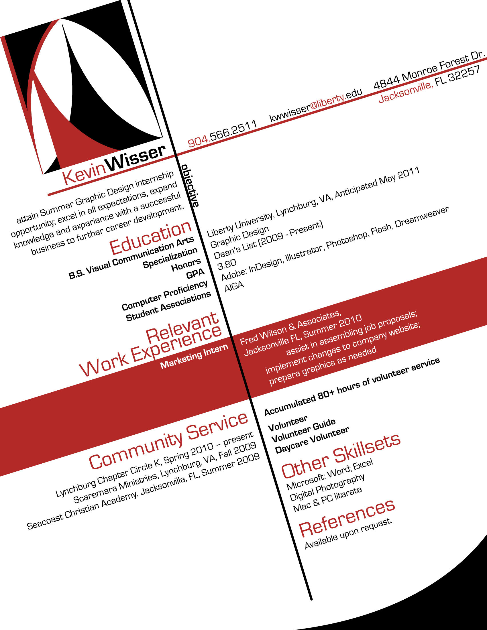 Graphic resume examples