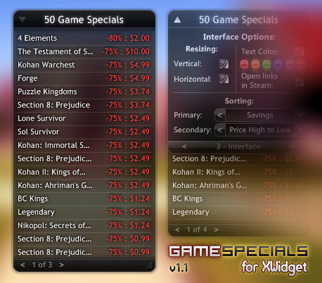 [XWidget] Game Specials v1.1 by Sooner266