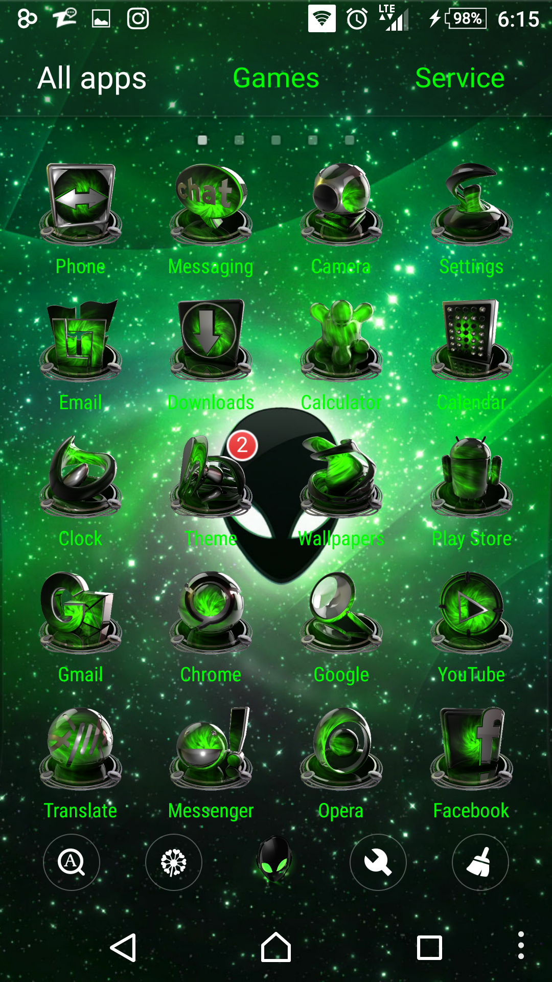 Green gmail theme -  Alienware Green Themepack For Android By Hs1987
