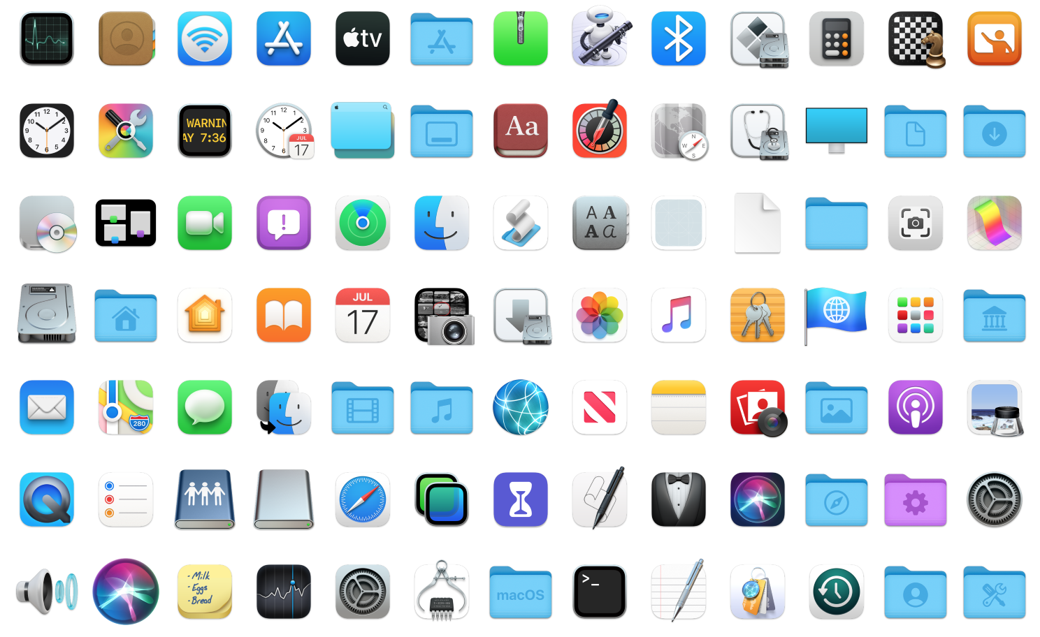 Macos Big Sur Icons Final By Protheme On Deviantart