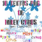 Pack de textos PNG de Miley Cyrus