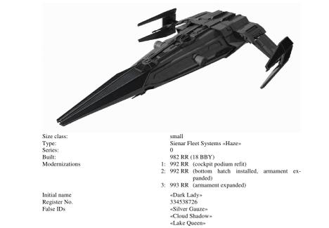 Dark Lady ship spec by neirosoft