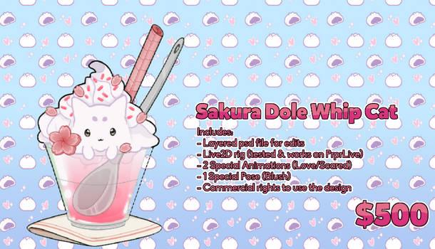Dole Whip Kitty VTuber design + Rig SOLD