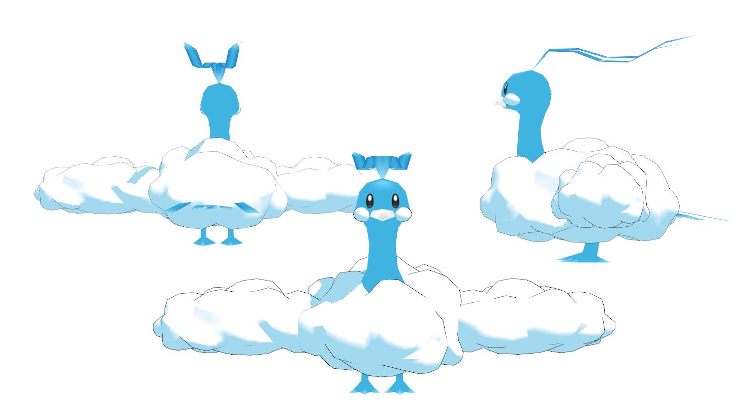 Altaria - Pokemon MMD Unrigged