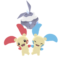 MMD Pokepack: Plusle, Minun and Carbink by NipahMMD