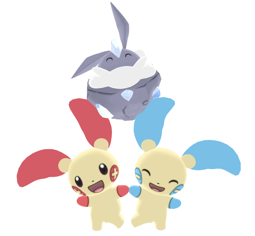 MMD Pokepack: Plusle, Minun and Carbink