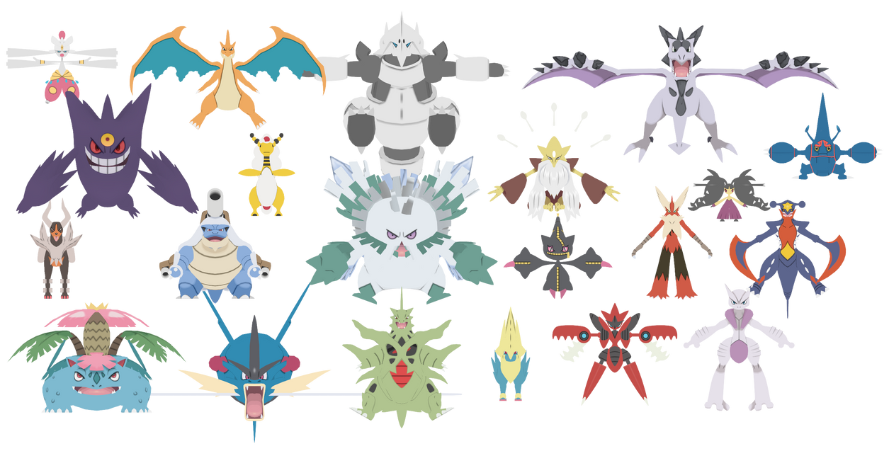 Pokepack x and y 2 mega evolutions unrigged by - Pokemon mega evolution y ...