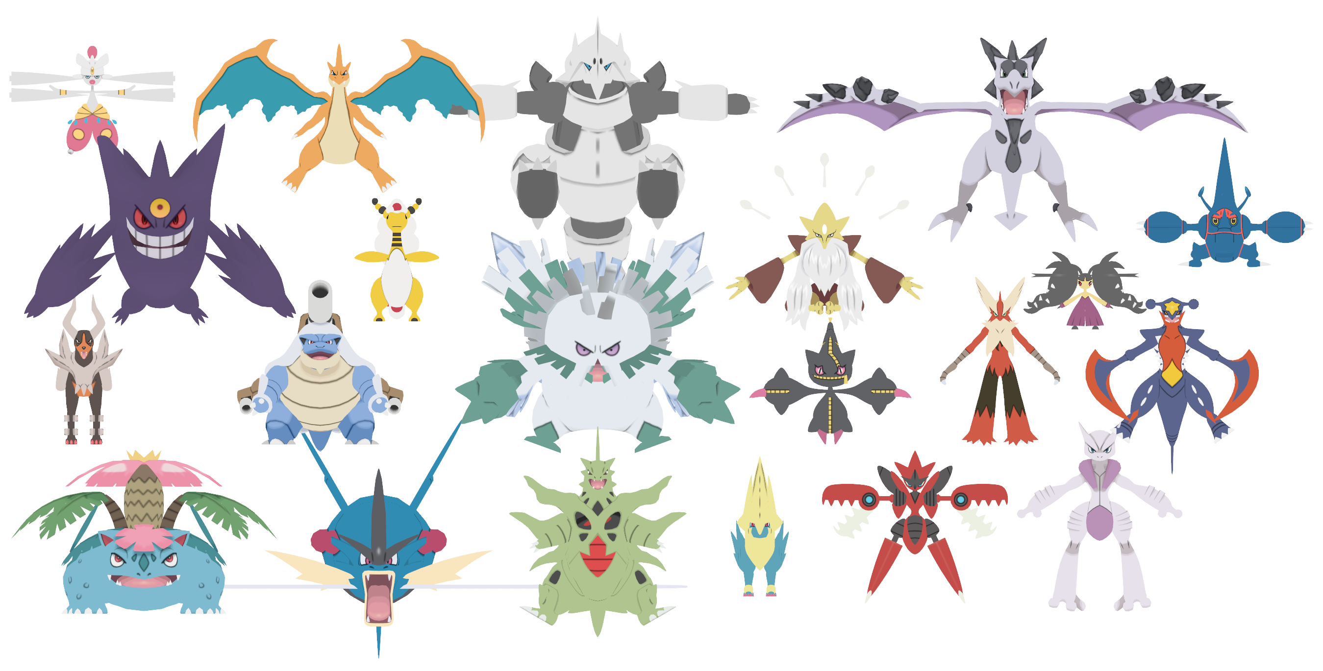 Image Gallery kanto mega evolutions