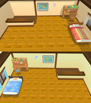 Pokemon ORAS May and Brendons bedrooms - MMD stage
