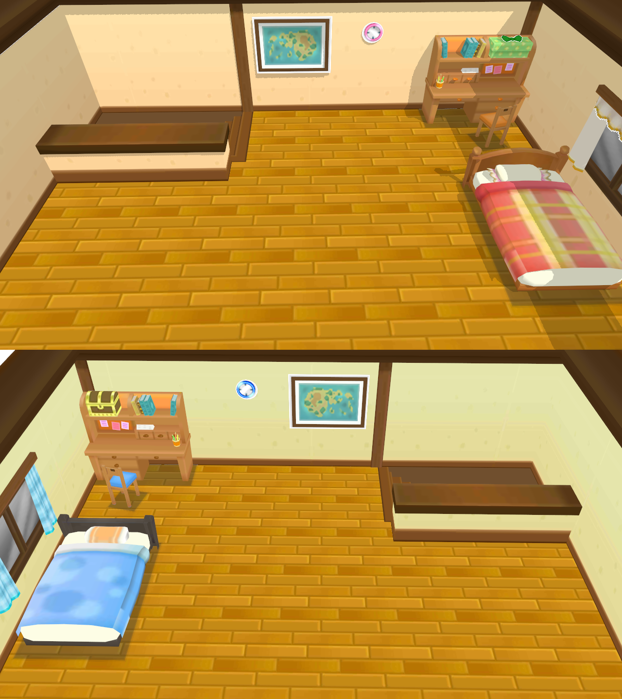 pokemon oras may and brendons bedrooms mmd stage by