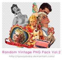 Random Vintage PNG Pack Vol.2 by qeezybaby
