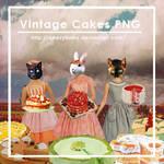 Vintage Cake AD's PNG Pack