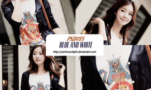 PSD#15 Blue And White