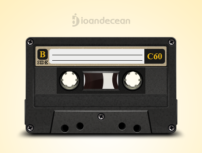 old cassette - free psd by nelutuinfo