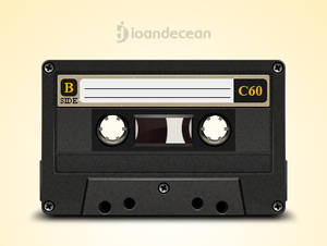 old cassette - free psd