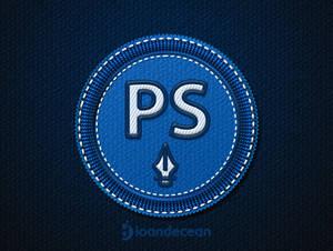 photoshop badge - free psd