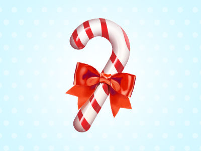 candy cane icon - free psd