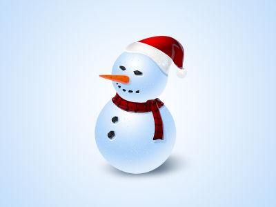 snowman icon - free psd