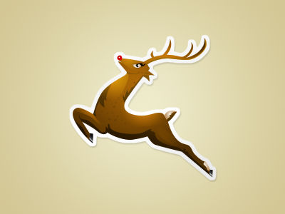 reindeer icon - free psd