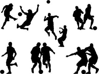 Football players silhouette by webdesigncreatives