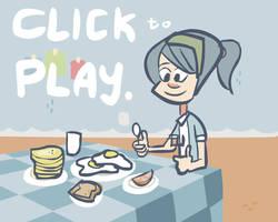 The Breakfast Waltz Cartoon by louiezong