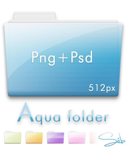 Aqua Folder Png+Psd by SebDominguez