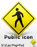 Public icon Png+Psd